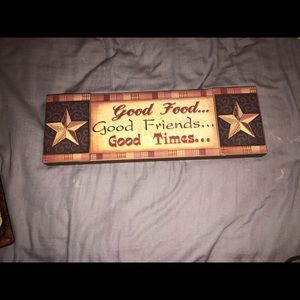 Good food good friends good times wall art